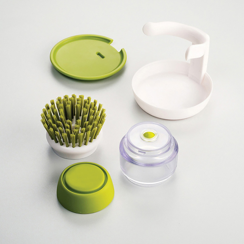 ORENBO Dish Brush Sponge Brush Melamine Sponges Scouring Pads Soap Liquid  Soap Dispenser Palm Kitchen Goods Dishwasher Brush