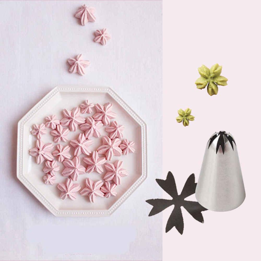 LIMITOOLS 1Pcs שירות זרבובית נירוסטה חלקה פרח דובדבן פריחת טיפ לקשט הדובדבן אפיית בישול