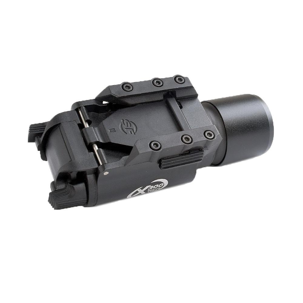 WIPSON tactique X300 lampe de poche étanche arme pistolet à lumière pistolet lanterne fusil Picatinny tisserand monture pour la chasse - 5