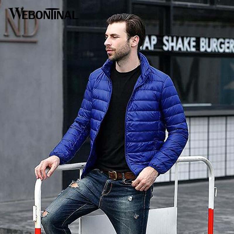 WEBONTINAL Autumn Winter Lightweight Thin 90% White Duck Jacket Men Casual Ultralight Male Feather Jackets Coat Ultra Light