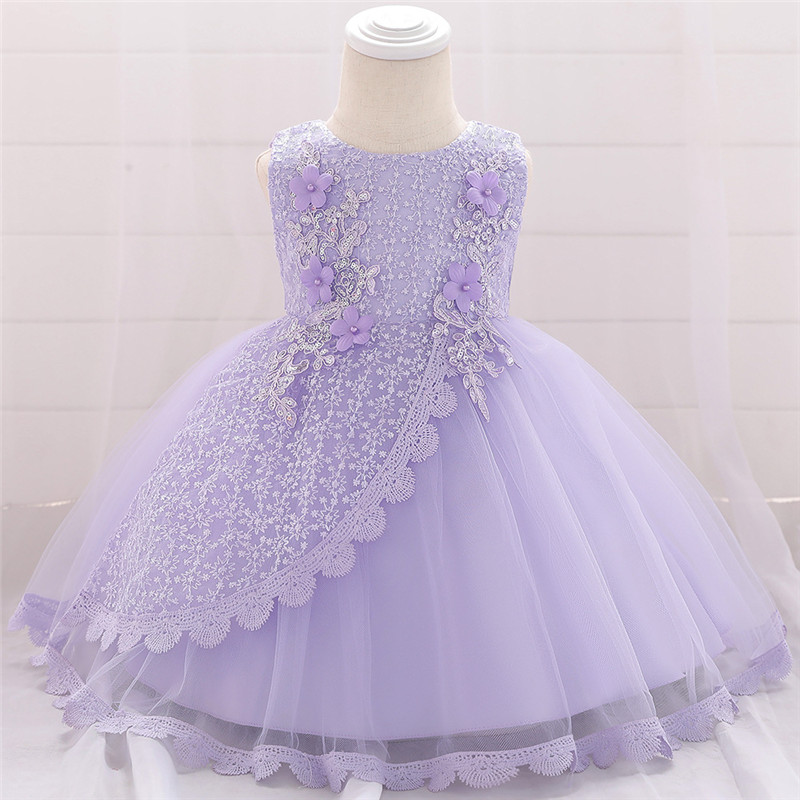 1 Year Birthday Party Baptism Dress of Girls Infant Baby Girl Custumes Baby Girls Clothes for Lace Tutu Princess Dress