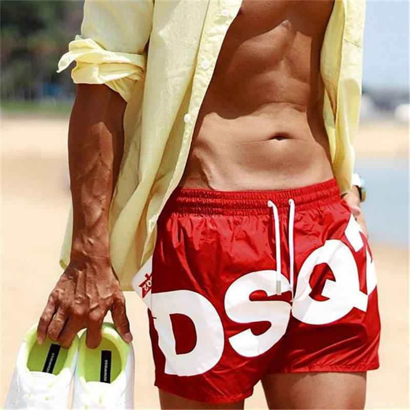 New Summer Men Gyms Fitness Shorts Bodybuilding Joggers Quick-dry Cool Shorts Hawaii Male Casual Beach Brand Sweatpants