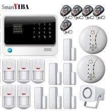 SmartYIBA WIFI Home House Safety Security Alarms PIR Detector Door Open Reminder Alarm Smoke Fire Detector