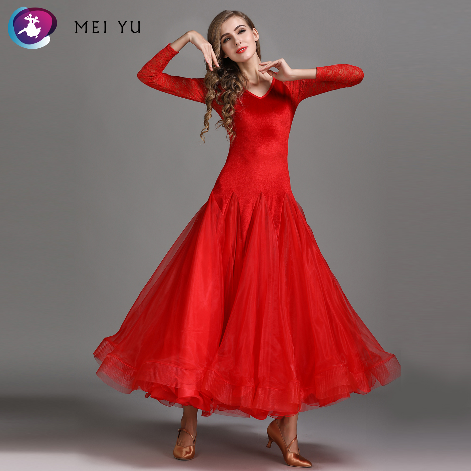 Stage & Dance Wear Diplomatic Mei Yu My786 Modern Dance Costume Women Lady Adult Waltzing Tango Velvet Dancing Dress Ballroom Costume Evening Party Dress Ballroom