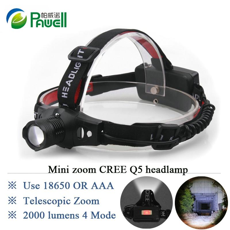2018 Various Lights New Outdoor Mining Cree Q5 Lamp Headlamp 18650 Zoom Miner Lantern Head Torch LED Bulbs Headlight Flashlight
