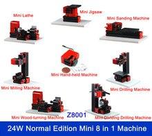 Mini Lathe Multipurpose 8 in1  Woodturning Machine, Jigsaw ,Sanding/Drilling/Milling Machine Metal Lathe DIY  Machine Tool Kit