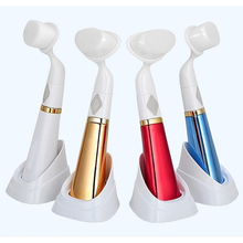 pobling Ultrasonic Face Brush Eletrical Facial Cleansing Tool Machine Facial brush Pore Sonic Cleanser Red Gold Blue 3color