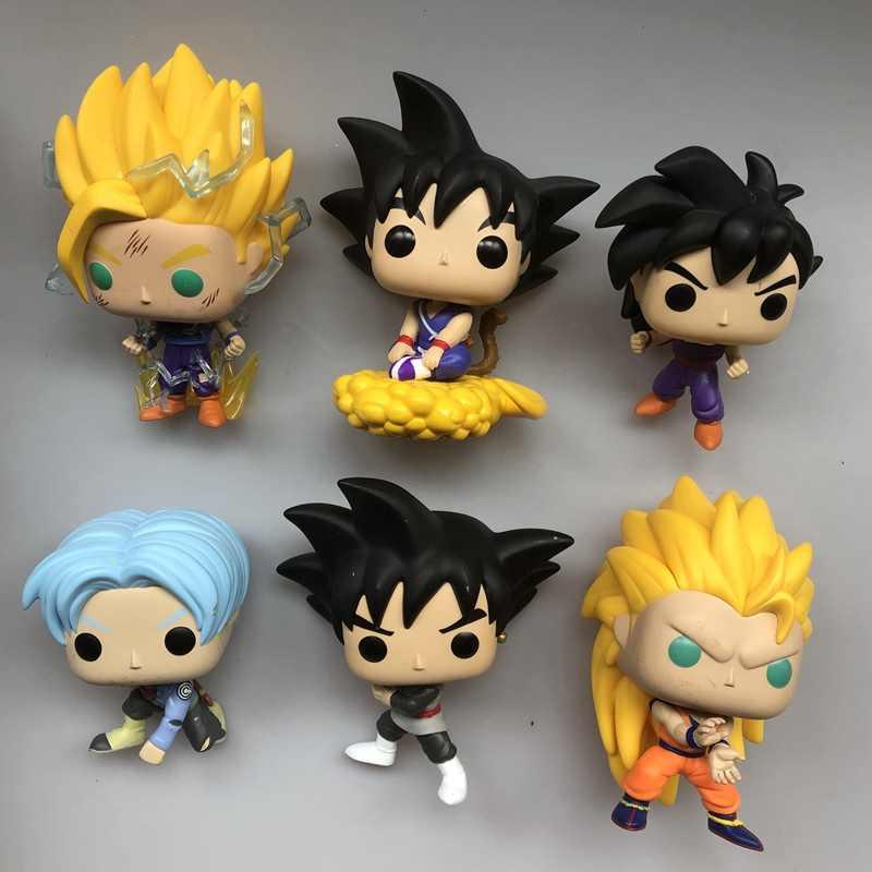 Exclusivo de Segunda Mão Original Funko pop Anime: Dragon ball Z-Goku Jovem, gohan Vinyl Action Figure Collectible Modelo Toy Solto