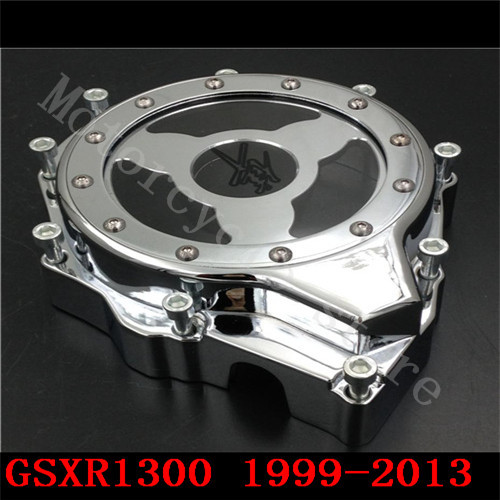 Fit for Suzuki Hayabusa GSXR1300 GSX-R 1300 1999-2013 Motorcycle see through Engine Stator Cover Chrome left side