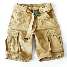 Шорты карго мужские камуфляжные, повседневные свободные рабочие штаны, короткие брюки в стиле милитари, ABZ113