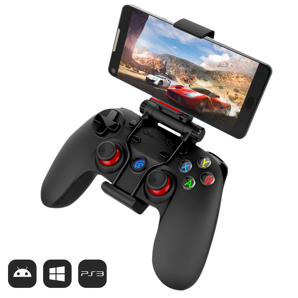GameSir G3s Bluetooth Controller Wireless 2.4g Joypad Joystick di Gioco per Android Smartphone Tablet VR TV BOX PS3 PC