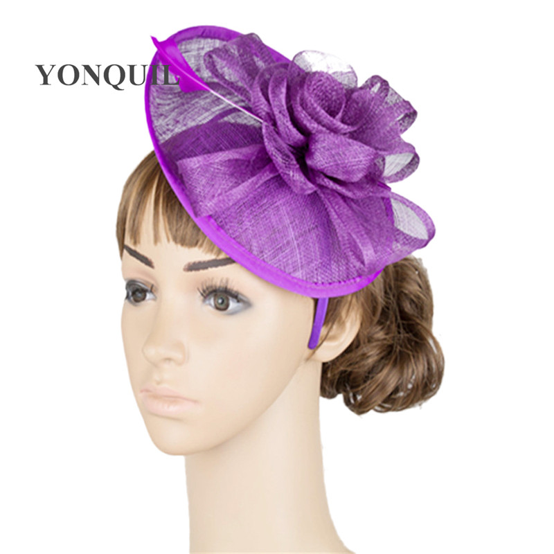 Royal Wedding Accessories Classic Spring Wedding Ideas: British Royal Lady Feather Fascinator Top Hat Classic