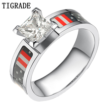 Free Shipping Hot Sale National Flag Inlay Titanium Ring Creative High Quality Gift Size 5-9
