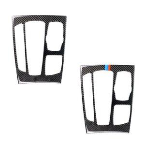 Image 2 - Автомобильный Стайлинг карбоновое волокно переключения передач Панель рамка Накладка для BMW X5 X6 F15 F16 2014 2015 2016 2017