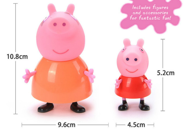 Peppa pig Family Pack 4pcs/set Action Figure