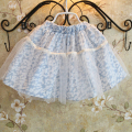 New 2017 summer girls flower lace skirt children kids fashion cute flower skirts