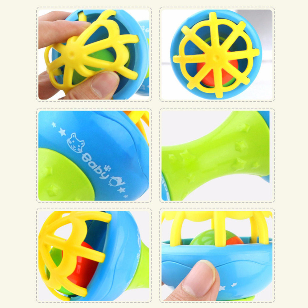 New Soft Silicone Double-Headed Teether Grabbing Rattle Toy For Baby Best toy to child drop shipping