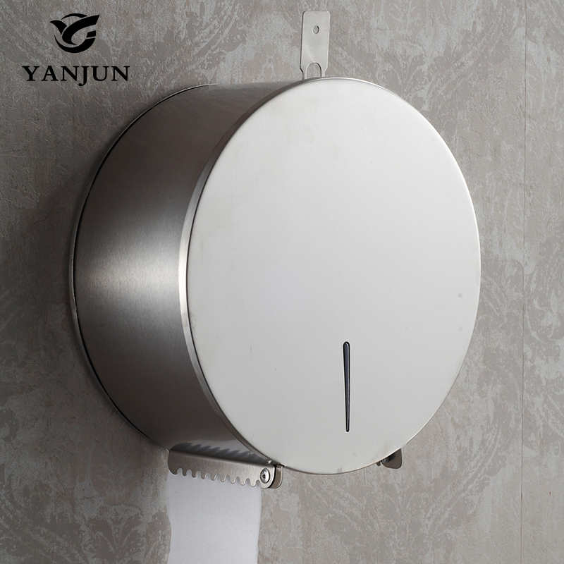 Yanjun High Quality Wall Mounted  Toilet  Paper Jumbo Roll Holder  Paper Towel Dispenser  Bathroom Accessories YJ-8621 x 3309 v folded paper dispenser abs plastic wall mounted paper holder home hotel toilet paper box