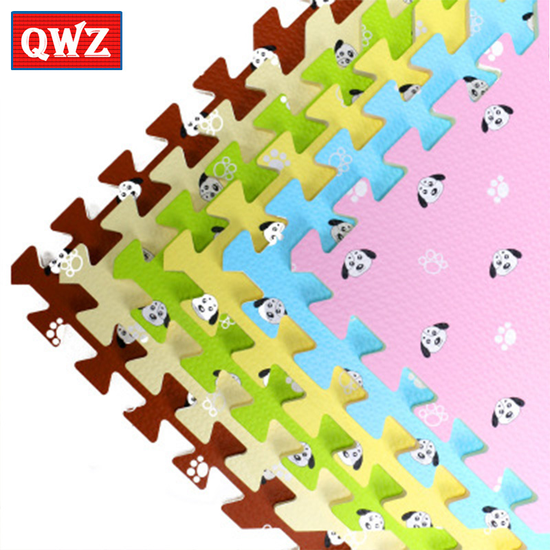 QWZ Baby Childrens Soft Environmental Potection Developing Play Mat Jigsaw Puzzle Foam Matpad Floor For Baby Games Non-slip ...