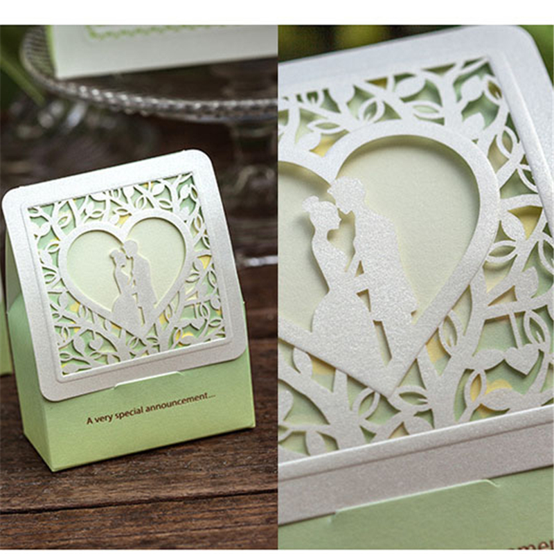 50Pcs/lot Bride And Groom Wedding Candy Box Paper Wedding Gifts ...