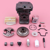 44mm Cylinder Piston Kit For Husqvarna 445 450 .325 7 Tooth Clutch Drum Air Fuel Filter Oil Pump Chainsaw Replace Spare Part