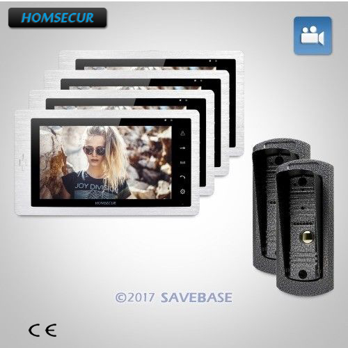 HOMSECUR 2V4 7 Hands-free Video Door Phone Intercom System + Outdoor Monitoring Brings Greater Convenience