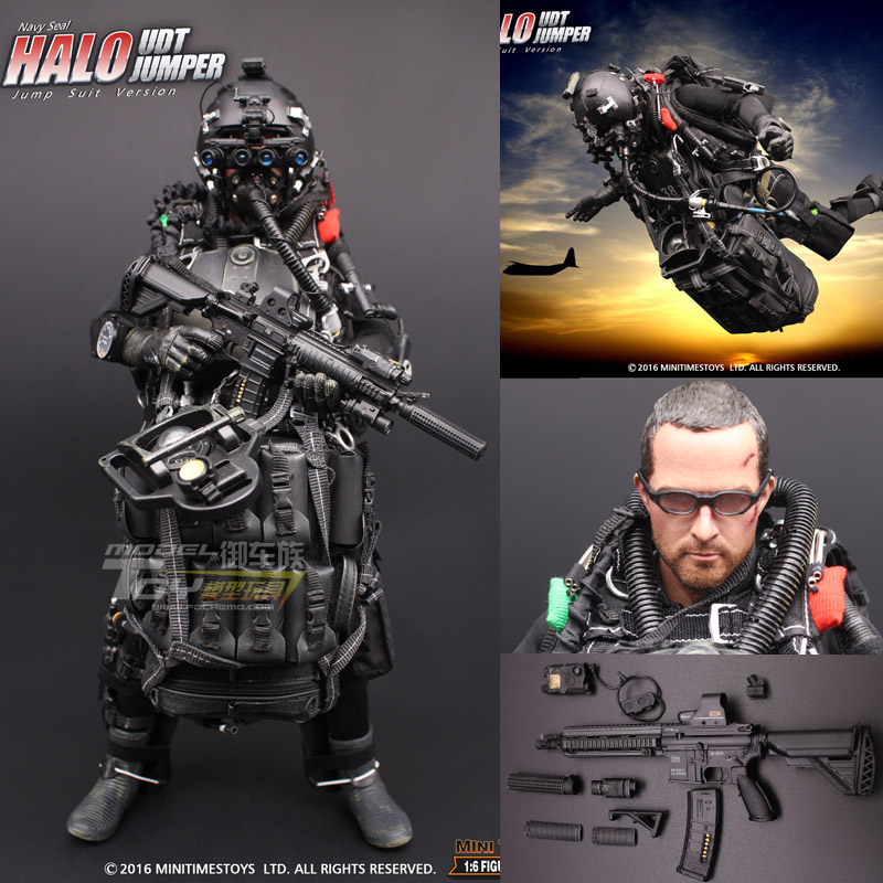 Minitimes Toys Mt M004 Mt-m004 Halo Udt Navy Seal Halo Udt Jumper Jump Suit Version 12 Collectible Action Figure estartek Apprehensive