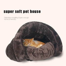 Warm Winter Pet cat sleeping bag Warm Soft Cat pet fleece Slipper Shaped bed house cat Litter Nest Pet pet Products Size S/M