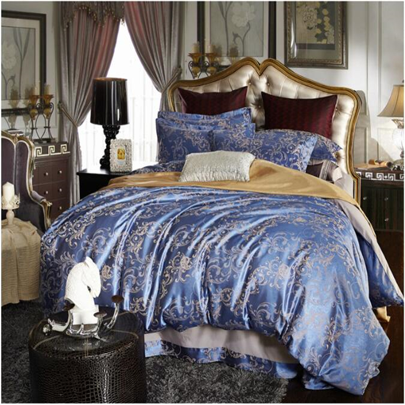 cheap silk cotton jacquard linens comforter satin bedding. Black Bedroom Furniture Sets. Home Design Ideas