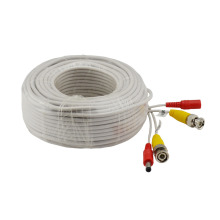 New CCTV Camera Accessories BNC Video Power Cable for Surveillance DVR Kit 30m 100ft CCTV Cable white color