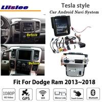 Liislee Android 6.0 up 2+32G For Dodge Ram 2013~2018 Stereo Tesla style Car BT Carplay GPS Navi Map Navigation System Multimedia