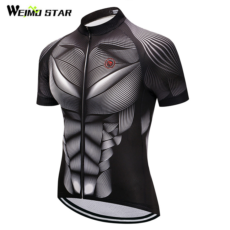 Weimostar Summer Cycling Clothing Team Racing Sport Cycling Jersey 2019 Breathable Bicycle Wear Clothes MTB Bike Jersey Shirt X1