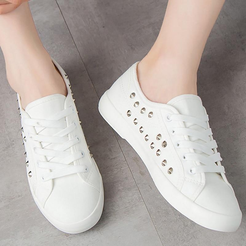 5 Rivet 2018 Toile 12 Résistant À Marque 4 Taille Femmes Sneakers Profonde Lumière White Casual Automne Blanc Chaussures Grand Peu L'usure qXU5Uw4