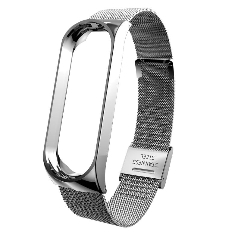 Bracelet Strap Mi-Band Metal Wrist-Strap-Accessories Xiaomi Screwless for 4 4-Steel