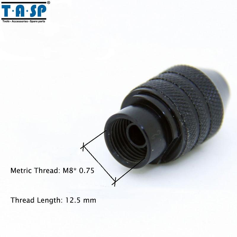 TASP Universal 3 Jaw Mini Chuck sin llave 0.5-3.2mm Collet Mini - Accesorios para herramientas eléctricas - foto 4