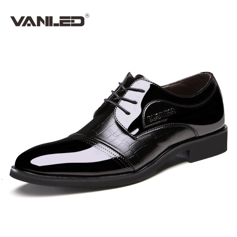 mens shoes dress 2017 original classic italian luxury casual business PU leather wedding shoes men brand flats men pointed toe fashion top brand italian designer mens wedding shoes men polish patent leather luxury dress shoes man flats for business 2016
