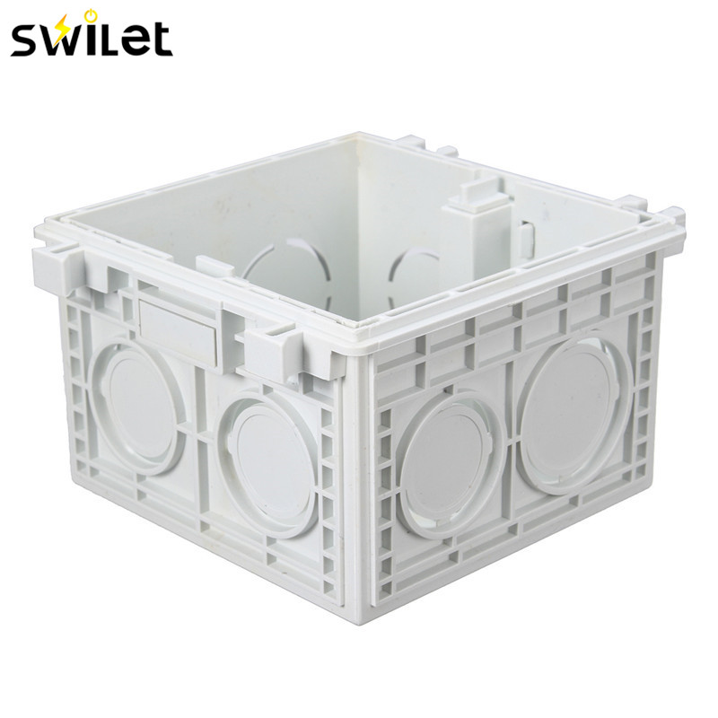 86*86MM Cassette Universal White Wall Mounting Box for Wall Switch and Socket Back Box uxcell 10pcs 86mm x 86mm x 40mm white pvc single gang wiring mount back box for wall socket