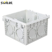 86*86MM Cassette Universal White Wall Mounting Box for Wall Switch and Socket Back Box(China)