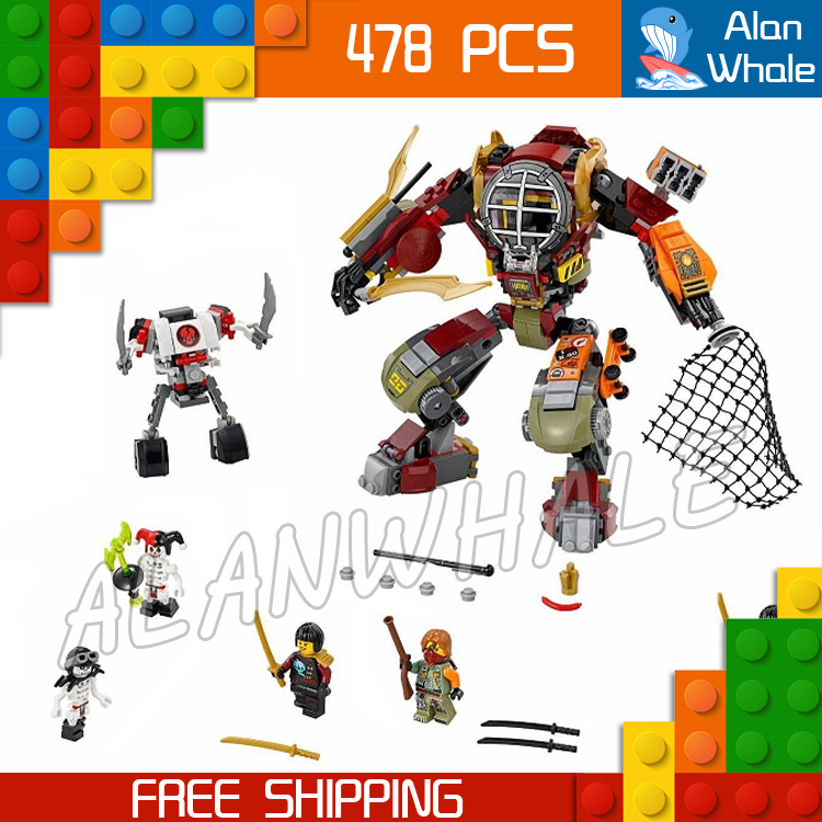 478pcs New Ninja Salvage M.E.C. 06035 Model Building Blocks Children Toys Samukai Bricks Sets Kits Compatible With lego 2016 new ninja kay fight building blocks sets 94 pcs bricks model toys ninjagoes compatible legoelieds toy without retail box