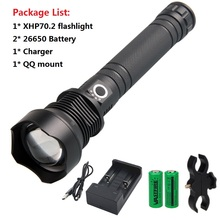 Tactical Flashlight Original Ultra Bright High Lumen LED Torch Light + 26650 battery Mount Charger