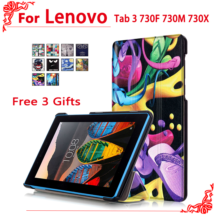 Case For Lenovo Tab 3 730F 730M 730X 7tablet case for Lenovo TB3-730F TB3-730M Tab3 730 Case Cover+free 3 gifts srjtek 7 for lenovo tab3 3 7 730 tb3 730 tb3 730x tb3 730f tb3 730m touch screen digitizer sensor lcd screen display assembly