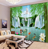 Hight Quality 3D Printing Curtains Lifelike Blackout Cortians Beautiful Full Light Shading Bedroom Livng Room Curtains