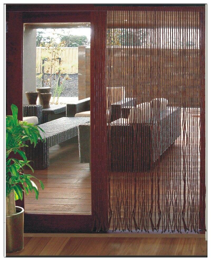 Bamboo bead door curtain - Chinese Bamboo Wooden Bead Door Screen Feng Shui Bead Curtain Fashion Bead Door Curtain