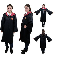 New Hermione Harry School Uniform Potter Costume Gryffindor Robe Cape Haloween Cosplay Costume Magic Robes