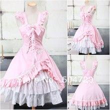 V-1076 rosa Klassische Süße Schule Lolita Kleid/viktorianischen kleid Cocktailkleid Halloween kostüme US6-26 XS-6XL