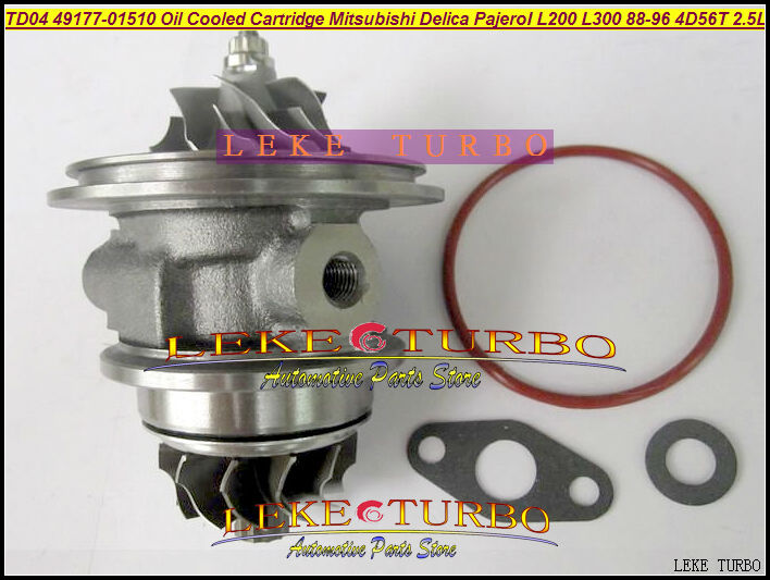 Free Ship Oil Turbo CHRA Cartridge TD04 49177-01510 49177-01511 MD094740 168053 For Mitsubishi Delica Pajero L200 L300 4D56 2.5L for mitsubishi l200 kb