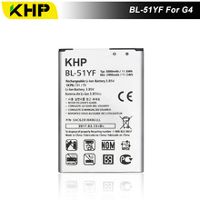 2017 кхп новый 100% BL-51YF телефон Батарея для LG G4 H815 H818 H810 VS999 F500 реальные 3000 мАч высокое качество мобильного Замена Батарея