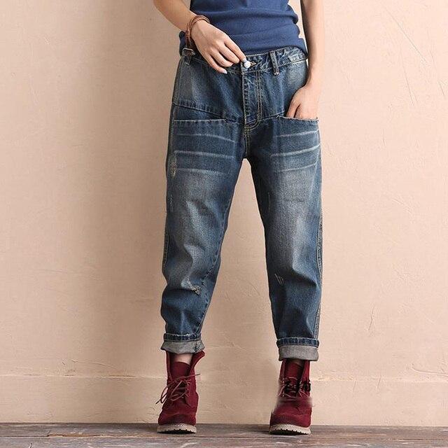 46d85c63e877 Mode Taille Haute Jeans Femme Sexy Dames Pantalons Jeans Cheville-Longueur  Denim Pantalon Déchiré Jeans