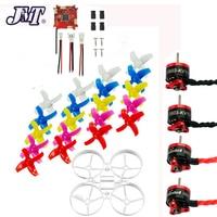 JMT DIY 75mm Indoor RC Racing Drone Combo Set Bwhoop75 Frame Kit & Crazybee F3 FC ESC & 1S KV19000 Motor 40mm 4 Paddles Propell