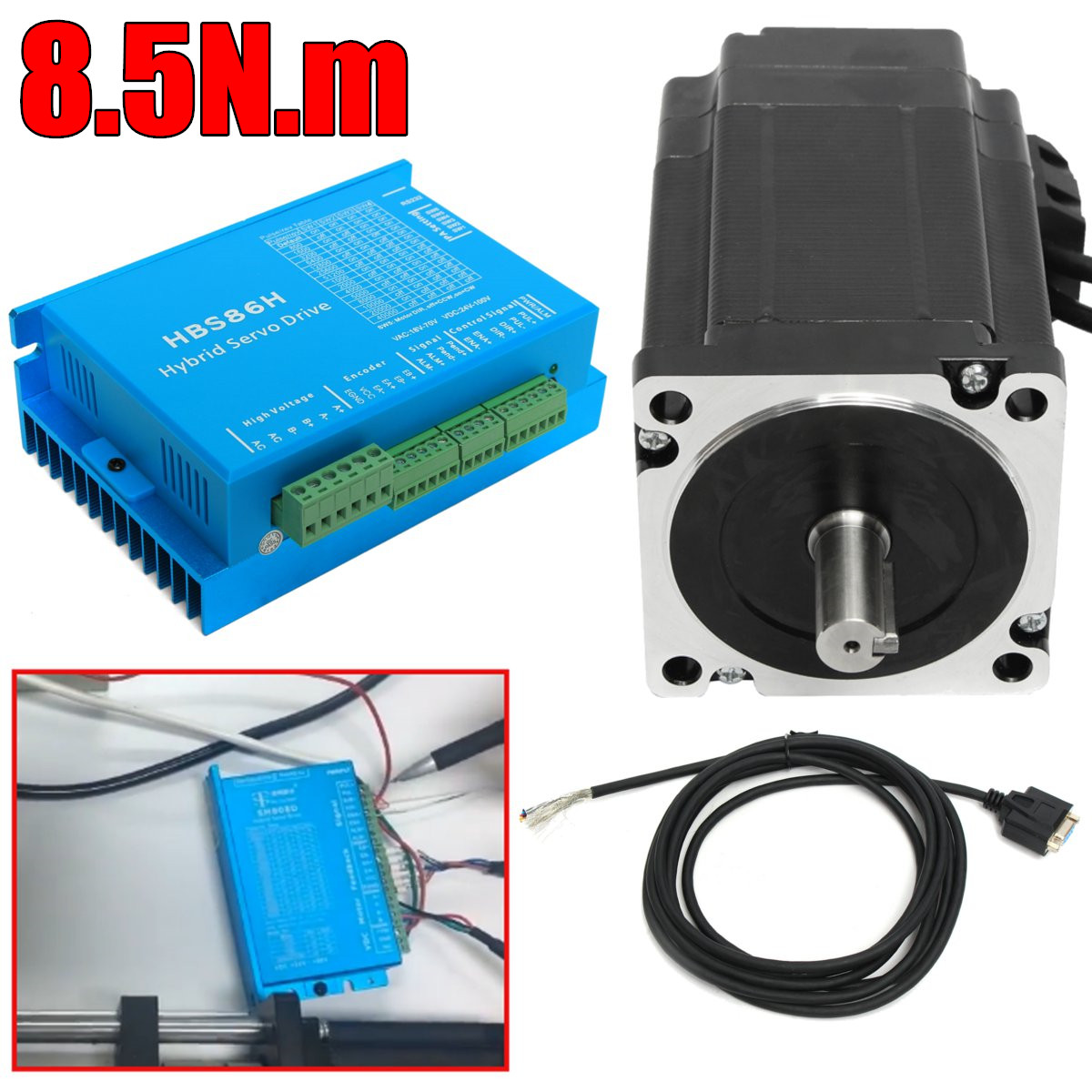 цена на 1 Set 6A HSS86 Hybrid Step-servo Driver CNC Controller Kit Nema34 Closed Loop 8.5N.m Servo motor Stepper Motor